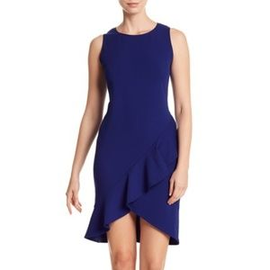 Bebe • Crepe Ruffle Hem Dress